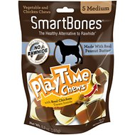 SmartBones Medium PlayTime Peanut Butter Chews Dog Treats, 5 pack