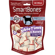 SmartBones Mini DoubleTime Chicken Chews Dog Treats, 16 pack
