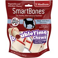 SmartBones Medium DoubleTime Chicken Chews Dog Treats, 3 pack