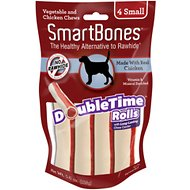 SmartBones Small DoubleTime Chicken Rolls Dog Treats, 4 pack