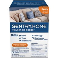 Sentry Home Flea & Tick Fogger for Pets, 3-count