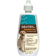 Sentry Earmite Free Ear Miticide for Dogs, 3-oz bottle