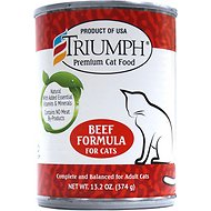 Triumph Beef Formula Canned Cat Food, 13.2-oz, case of 12