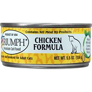 Triumph Chicken Formula Canned Cat Food, 5.5-oz, case of 24