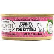 Triumph Turkey Formula for Kittens Canned Cat Food, 5.5-oz, case of 24
