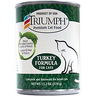 Triumph Turkey Formula Canned Cat Food, 13.2-oz, case of 12