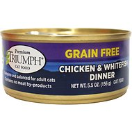 Triumph Grain-Free Chicken & Whitefish Dinner Canned Cat Food, 5.5-oz, case of 24