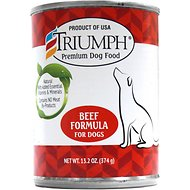 Triumph Beef Formula Canned Dog Food, 13.2-oz, case of 12