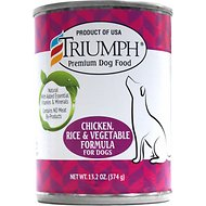 triumph chicken, rice 'n vegetable formula canned dog food