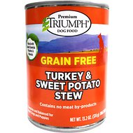 Triumph Grain-Free Turkey & Sweet Potato Stew Canned Dog Food, 13.2-oz, case of 12