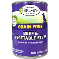 Triumph Grain-Free Beef & Vegetable Stew Canned Dog Food, 13.2-oz, case of 12