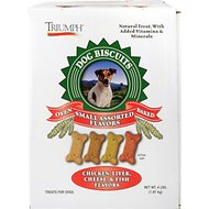 Triumph Small Assorted Flavors Biscuits Dog Treats, 20-lb box