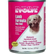 Evolve Lamb Formula Canned Dog Food, 13.2-oz, case of 12