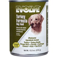 Evolve Turkey Formula Canned Dog Food, 13.2-oz, case of 12