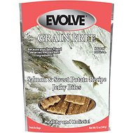 Evolve Salmon & Sweet Potato Recipe Jerky Bites Grain-Free Dog Treats, 12-oz bag