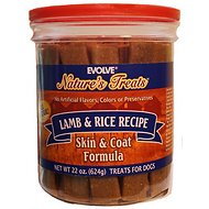 Evolve Nature's Treats Lamb & Rice Recipe Dog Treats, 22-oz jar