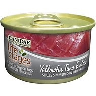Canidae Life Stages Yellowfin Tuna Entree with Slices Simmered in Fish Broth Canned Cat Food, 3-oz, case of 12