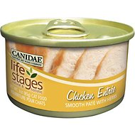 CANIDAE Life Stages Chicken Entree Smooth Pate with Herbs Canned Cat Food, 3-oz, case of 12