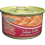 Canidae Life Stages Salmon Entree with Slices Simmered in Fish Broth Canned Cat Food, 3-oz, case of 12