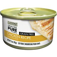 Canidae Grain-Free PURE Chicken Pate Recipe Canned Cat Food, 3-oz, case of 12