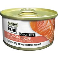 Canidae Grain-Free PURE Salmon Recipe with Slices in Delicate Fish Sauce Canned Cat Food, 3-oz, case of 12