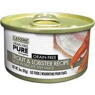 Canidae Grain-Free PURE Trout & Lobster Recipe with Slices in Delicate Fish Sauce Canned Cat Food, 3-oz, case of 12