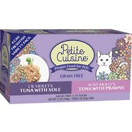Petite Cuisine 2 Recipe Fresh Fish Variety Pack Grain-Free Canned Cat Food, 3-oz, case of 24