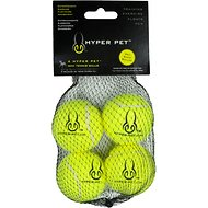 Hyper Pet 4 Pack of Balls for Dogs, Green, Mini