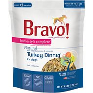 Bravo! Homestyle Complete Turkey Dinner Grain-Free Freeze-Dried Dog Food, 6-lb bag