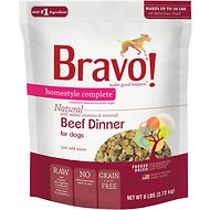 Bravo! Homestyle Complete Beef Dinner Grain-Free Freeze-Dried Dog Food, 6-lb bag