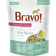Bravo! Homestyle Complete Pork Dinner Grain-Free Freeze-Dried Dog Food, 2-lb bag