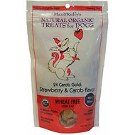 Max & Ruffy's 24 Carob Gold: Strawberry & Carob Flavor Dog Treats, Mini Bites