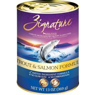 Zignature Trout & Salmon Limited Ingredient Formula Canned Dog Food, 13-oz, case of 12