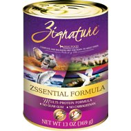 Zignature Zssential Multi-Protein Formula Grain-Free Canned Dog Food, 13-oz, case of 12