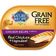 Nature's Recipe Grain-Free Chicken Recipe in Broth Wet Dog Food, 2.75-oz, case of 24