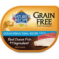 Nature's Recipe Grain-Free Ocean Fish & Tuna Recipe in Broth Wet Dog Food, 2.75-oz, case of 24