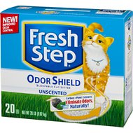 Fresh Step Odor Shield Unscented Cat Litter, 20-lb box