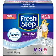 Fresh Step Multiple Cat Scoopable Clumping Cat Litter, 42-lb bag