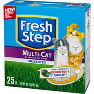 Fresh Step Multiple Cat Unscented Cat Litter, 25-lb Box