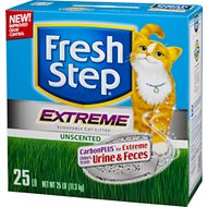 Fresh Step Extreme Odor Control Unscented Cat Litter, 25-lb Box