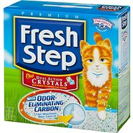Fresh Step Plus Dual Action Crystals Cat Litter, 14-lb box