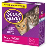 Scoop Away Multiple Cat Formula Litter, 14-lb box