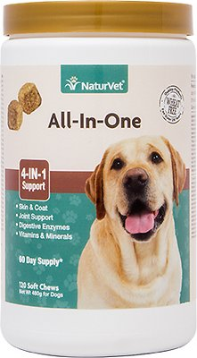 2. NaturVet All-in-One Support Soft Chews Dog Supplement