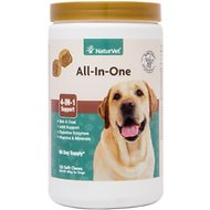 NaturVet All-In-One Soft Chews for Dogs, 120 count