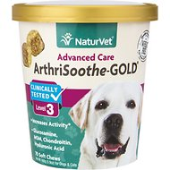 NaturVet ArthriSoothe Gold Level 3 Soft Chews for Dogs, 70 count