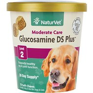 NaturVet Glucosamine DS Plus Level 2 Soft Chews for Dogs, 70 count