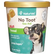 NaturVet No Toot Gas Aid Soft Chews for Dogs, 70 count