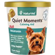 NaturVet Quiet Moments Calming Aid Dog Soft Chews, 70 count