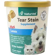 NaturVet Tear Stain Plus Lutien Supplement, 70 count