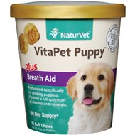 NaturVet VitaPet Puppy Vitamins & Minerals Dog Soft Chews, 70 count